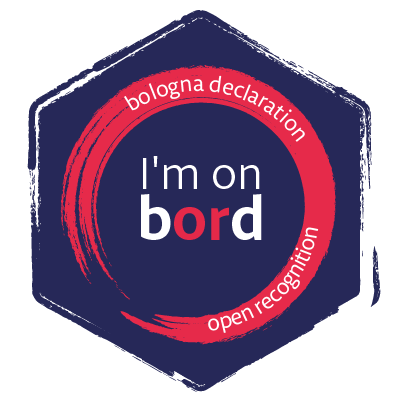 Open Badge: I'm on BORD - Bologna Open Recognition Declaration supporter
